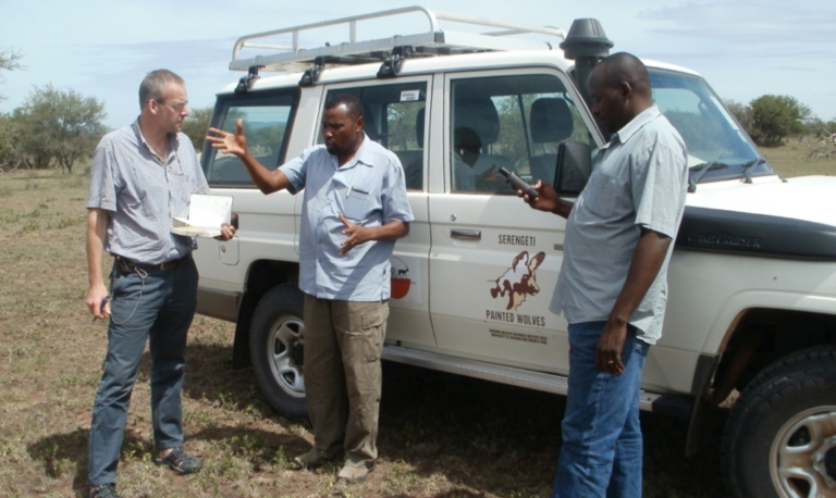 Members of the project team: Grant Hopcraft, Ernest Eblate and Emmanuel Masenga