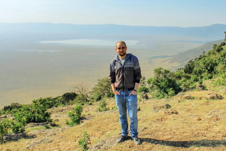 Vlad in the field (at the Ngorongoro crater)