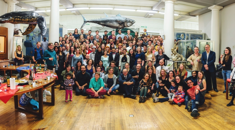 Our annual Institute Christmas Party photo. © Jim Caryl