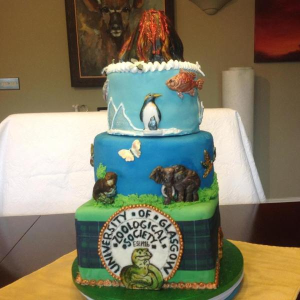 GU ZooSocs 90th Birthday Cake Created By Linda Thompson CRichard