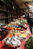 The potluck buffet! ©Mary Ryan