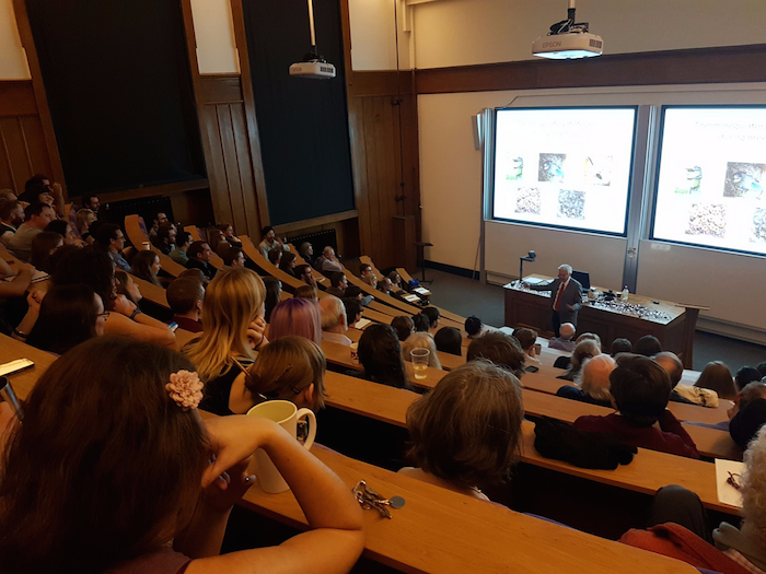 Prof. Jan-Ake Nilsson, University of Lund, delivers the annual Ornithology Christmas Lecture. ©Shaun Killen